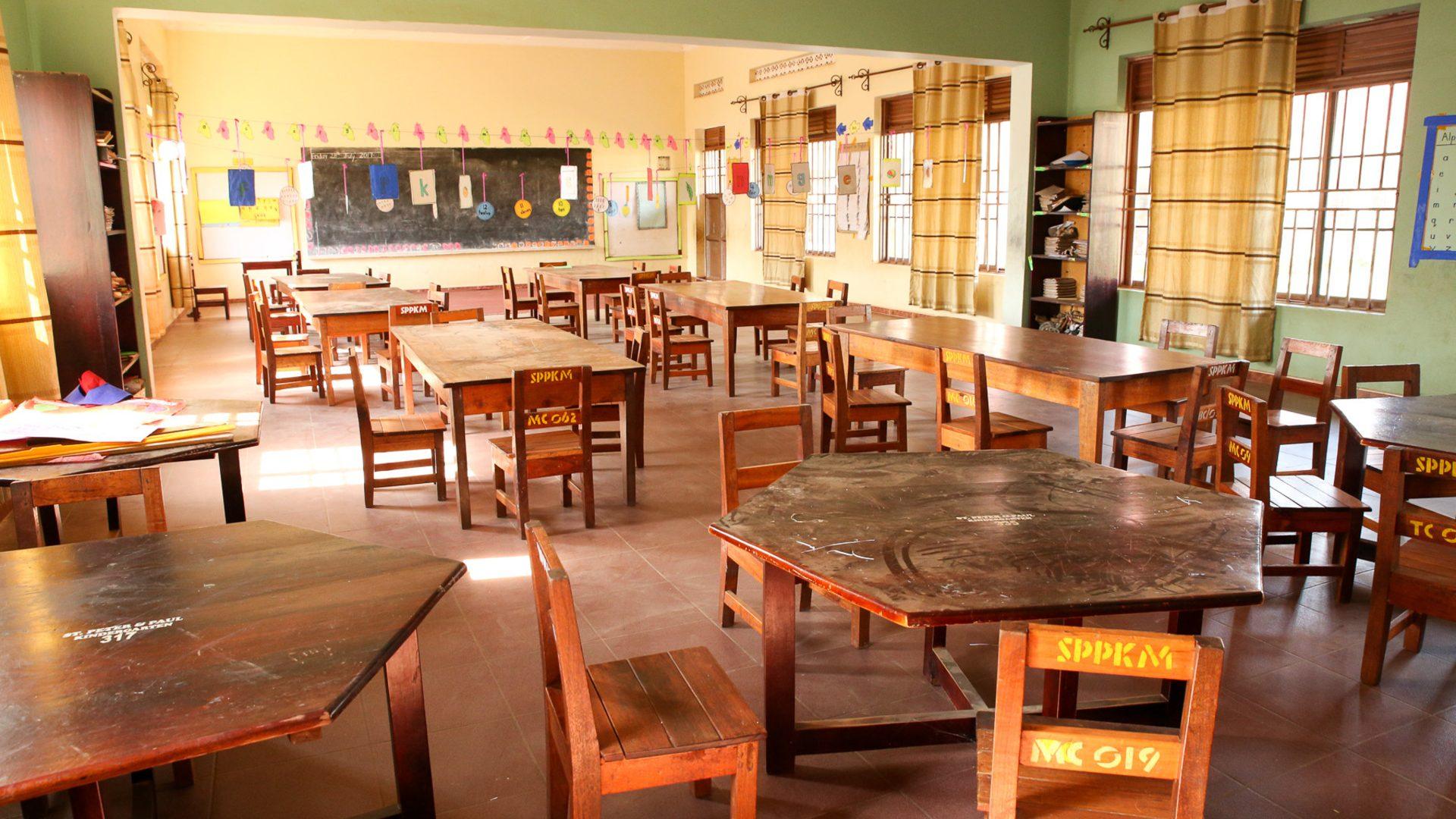 Inside Kindergarten classroom