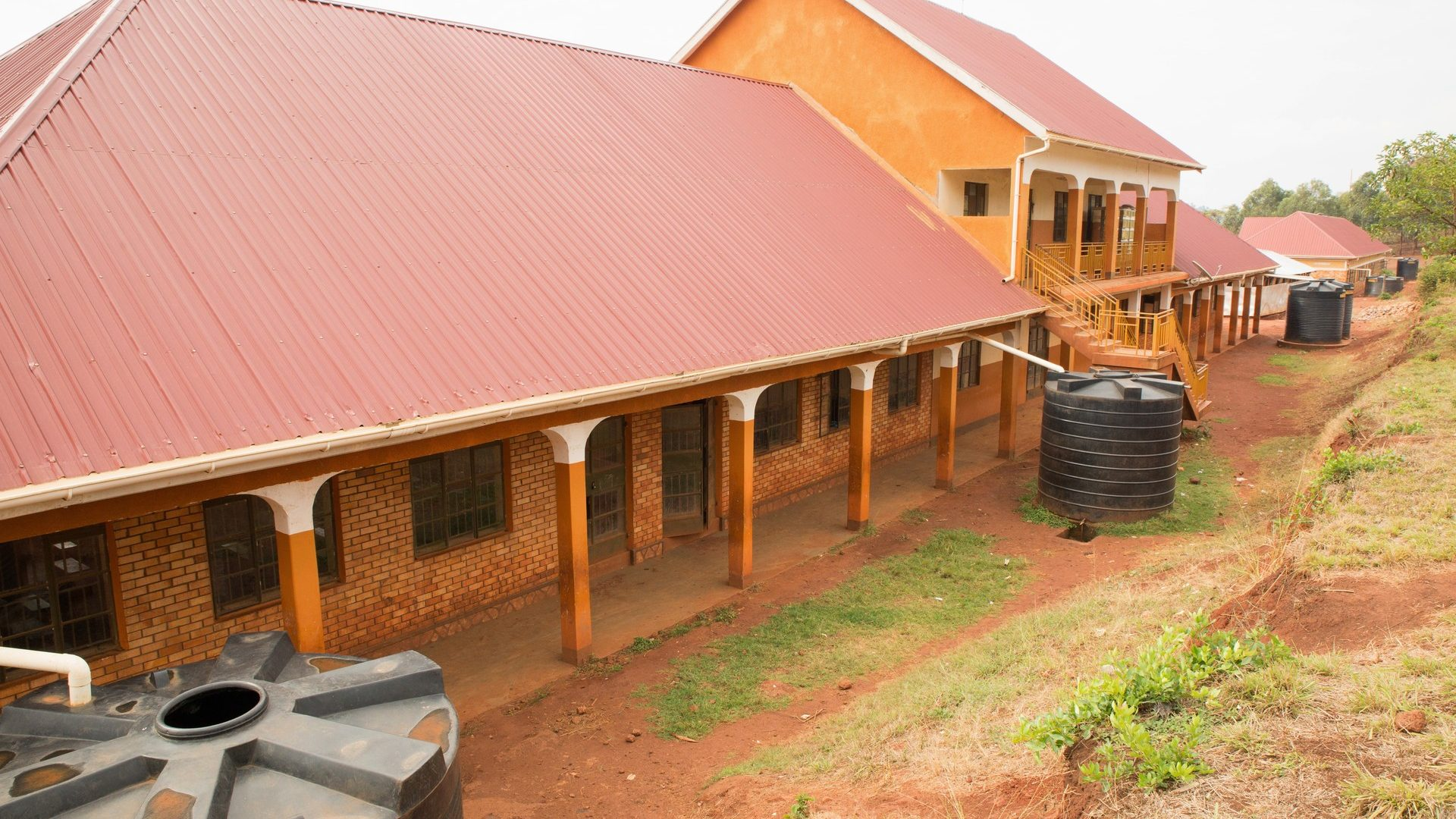 Secondary school buildings