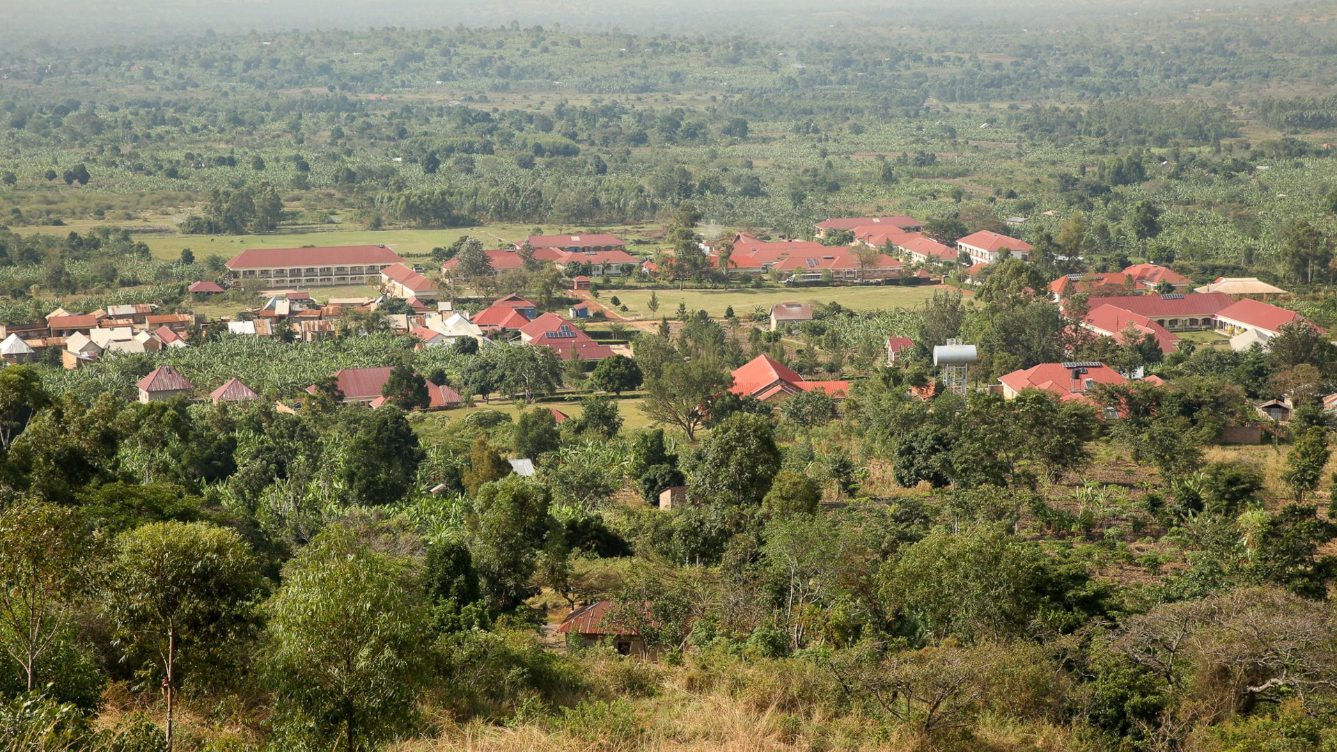 View of Mannya Village from the top of Mount Mannya